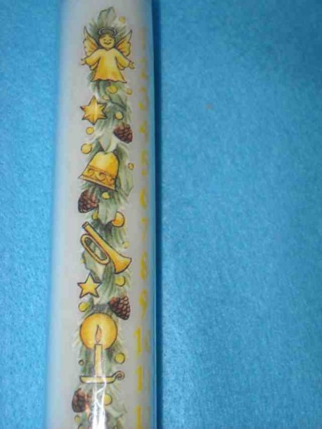 Advent Calendar Taper Candle,