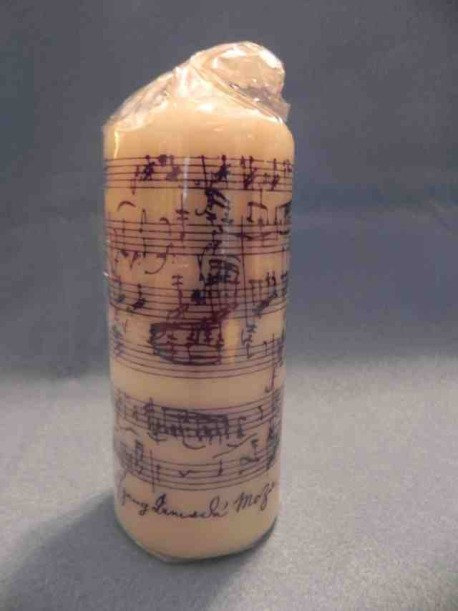mozart pillar candle