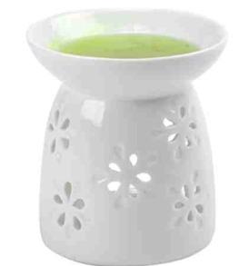 Tealight Oil Warmer, Shiny White