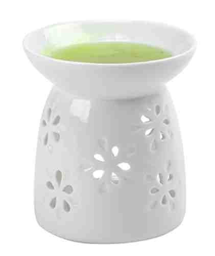 Tealight Oil Warmer, Shiny White