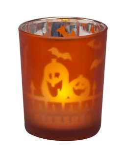 1 Metallic Halloween Night Votive or Tealight Holder