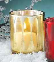 One Gold Cathedral Votive Glass Candle Holder