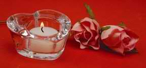 Biedermann & Sons HJ88 Glass Heart Tealight Holder