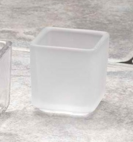 Biedermann & Sons HJ705FR Square Frost Tealight Holder