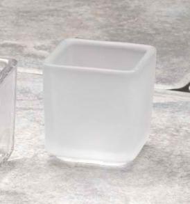 Biedermann & Sons HJ705FR Square Frost Tealight Holder