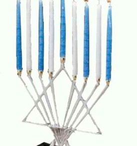 Silver Menorah-Starlight Design