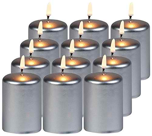 Biedermann & Sons 12 Count Metallic 15-Hour Votive, Silver