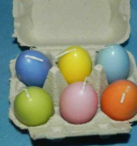 Egg Shaped Candles