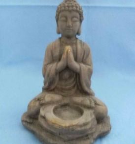 Stone Buddha Tealight Candle Holder