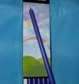 "Elegant Elements 10"" Taper Candles, Purple, Box of 6"