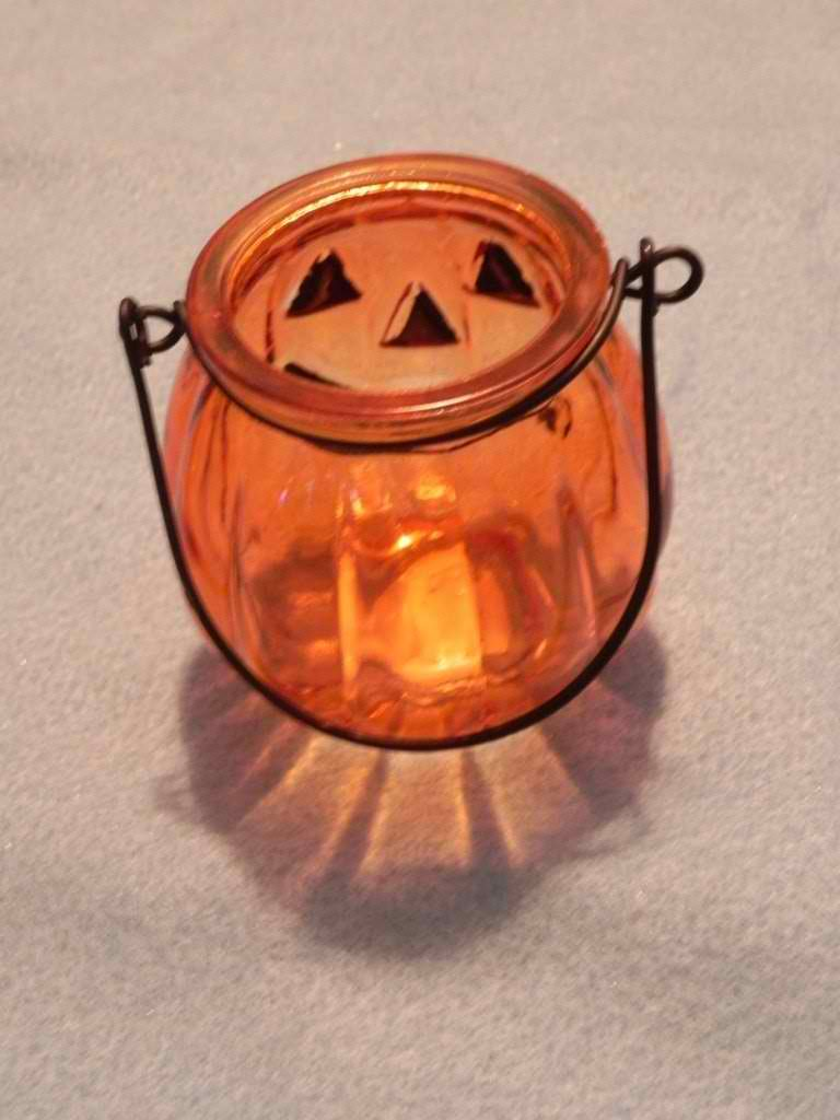 small glass jack tealight candle holder