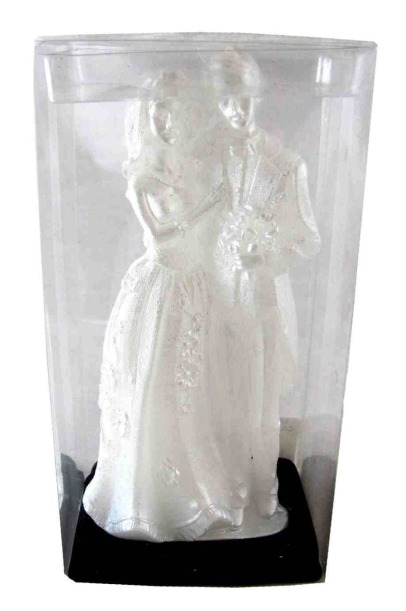 Biedermann & Sons 3 Count Bride and Groom Candles Box