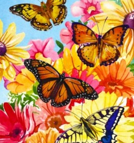 Butterfly Floral 1530