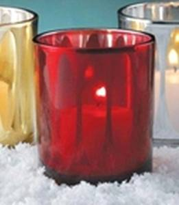 One Red Cathedral Votive Glass Candle Holder