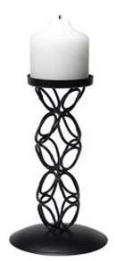 Iron Chain Loop Pillar Candle Holder