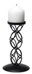 Iron Chain Loop Pillar Candle Holder