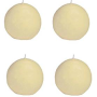 Biedermann Round-Shaped 3-Inch Diameter Ball Candles, Champagne, Set of 4