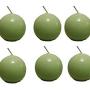 Biedermann & Sons 2-34-Inch Round Candles, Daiquiri Green, Set of 6