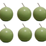 Biedermann & Sons 2-34-Inch Round Candles, Daiquiri Green, Set of 6