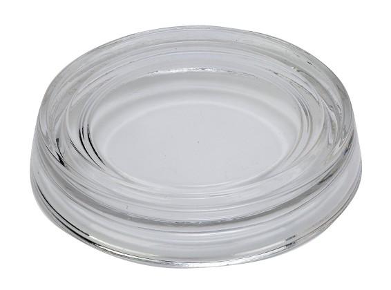 Biedermann & Sons Glass Pillar Plate, Clear