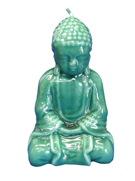 Biedermann & Sons Jade Buddha Candle, Green