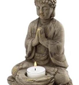 Biedermann & Sons Stone Buddha Tealight Holder