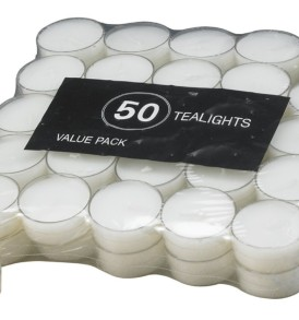 Biedermann Tealights in Acrylic Cups, 50-Count