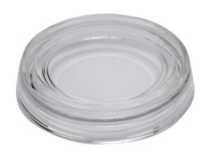 Biedermann & Sons Glass Pillar Plate, Clear