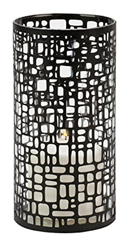 Biedermann & Sons Metal and Glass Geometric Pillar Candle Holder