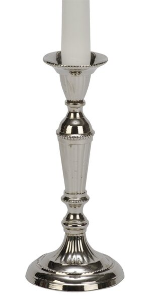 Biedermann & Sons Nickel Candlestick Holders (Box of 2), 7