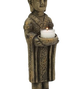 Biedermann & Sons Stone Standing Buddah Tealight Holder