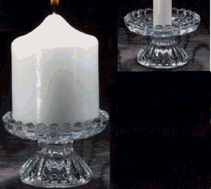 Dual Purpose Glass Candle Holder