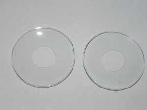 Pair of 2 Glass Bobeche, Glass Candle Rings 2